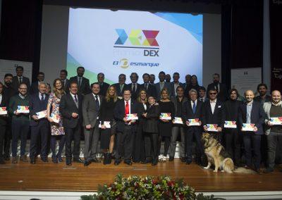 Los galardonados en los Premios DEX 2017.