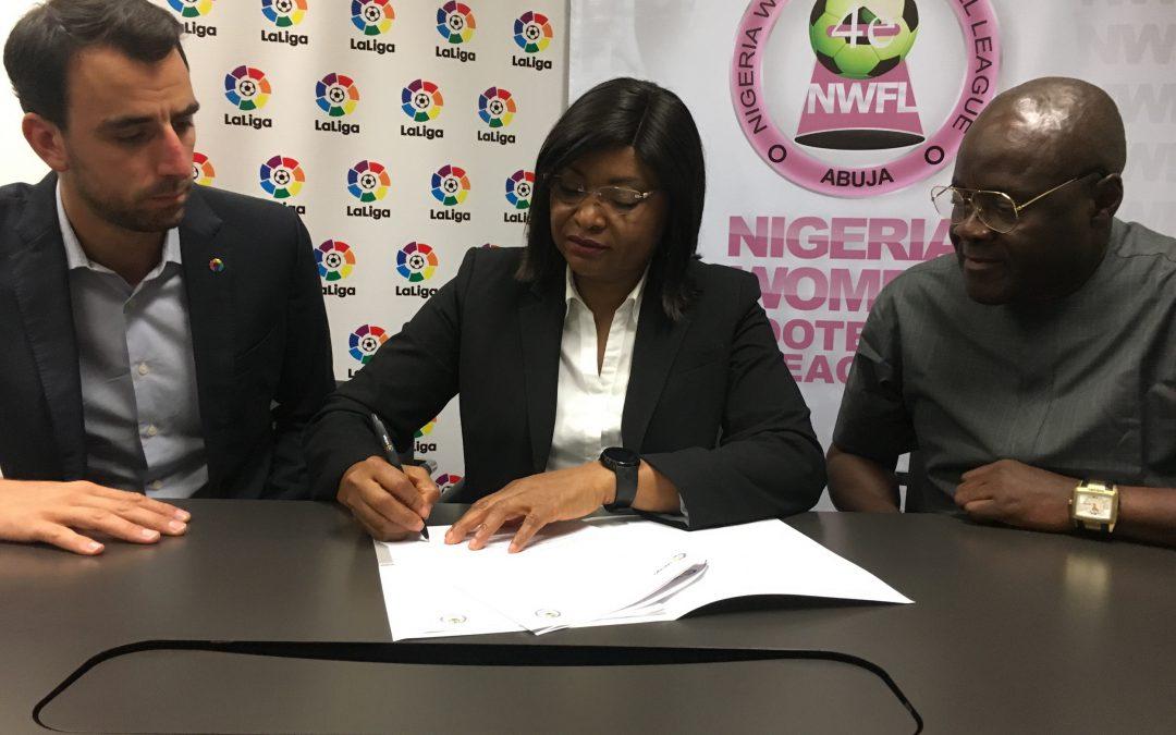 LaLiga y la Liga de Fútbol Femenino de Nigeria colaborarán para mejorar el fútbol femenino