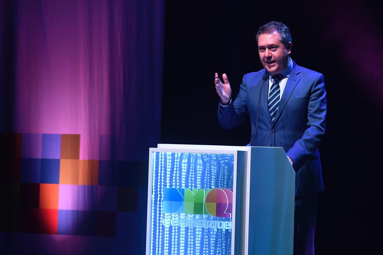 Juan Espadas, en la Gala de los Premios DEX.