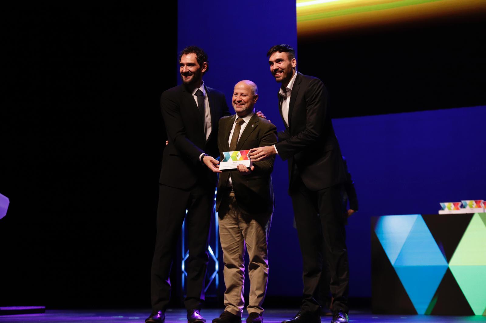 Jorge Garbajosa, Javier Imbroda y Pierre Oriola