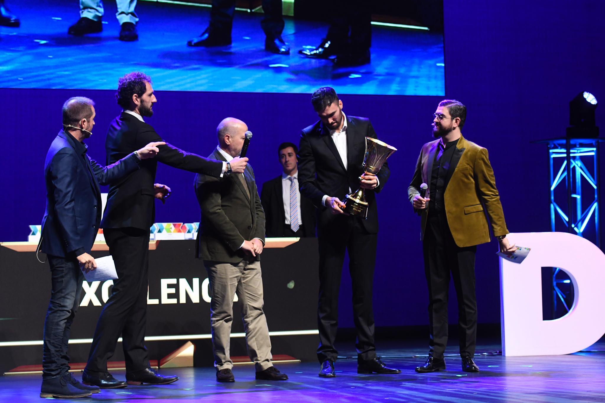 Entrega del premio DEX a la selección española de baloncesto